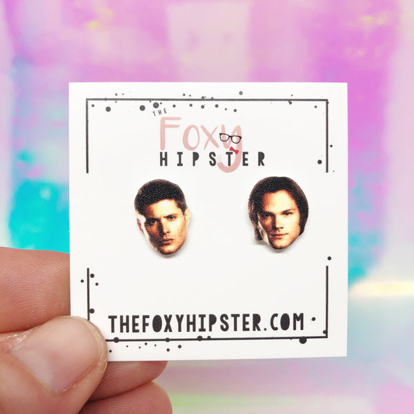 Sam and Dean Winchester Inspired Stud Earrings