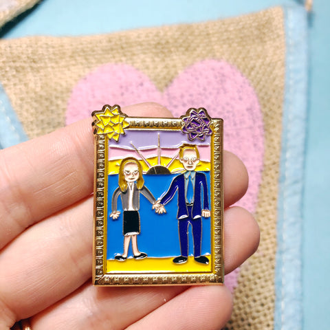Jim and Pam Painting Enamel Pin