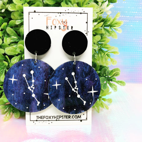 TAURUS Astrology Zodiac Constellation Dangle Drop Earrings