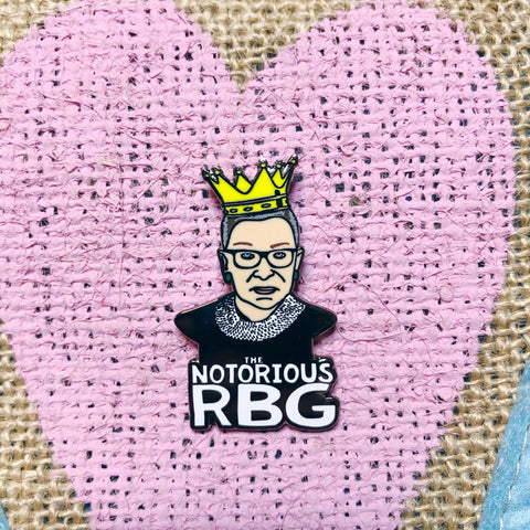 The Notorious RBG Enamel Pin