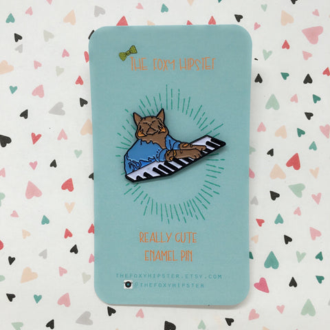 Keyboard Cat Enamel Pin