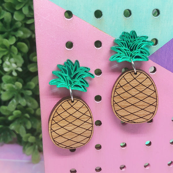 Pineapple Fruit Dangle Earrings