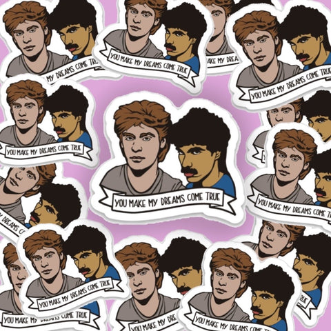 Hall and Oates Vinyl Sticker