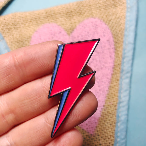 Bolt Enamel Pin