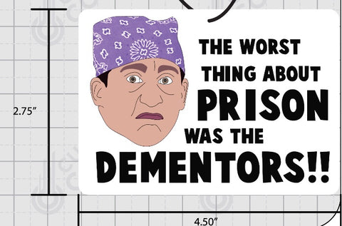 Prison Mike Air Freshener