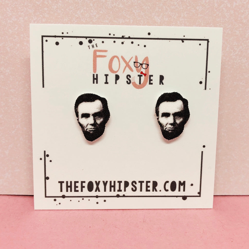 Abe Lincoln Stud Earrings