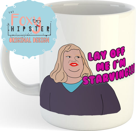 Lay off me I'm Starving Chris Farley  11oz coffee mug