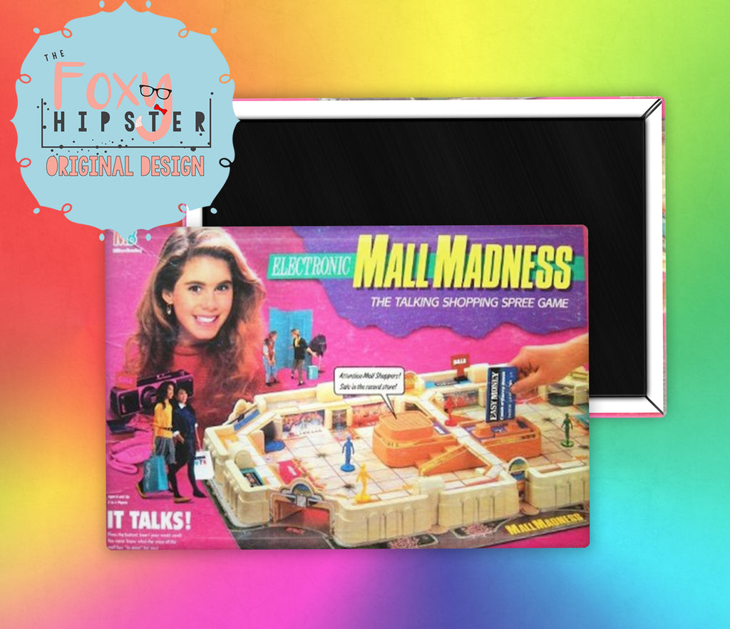 Mall Madness Board Game Fridge Magnet
