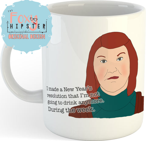 Meredith Palmer Drinking Quote  11oz Coffee Mug The Office