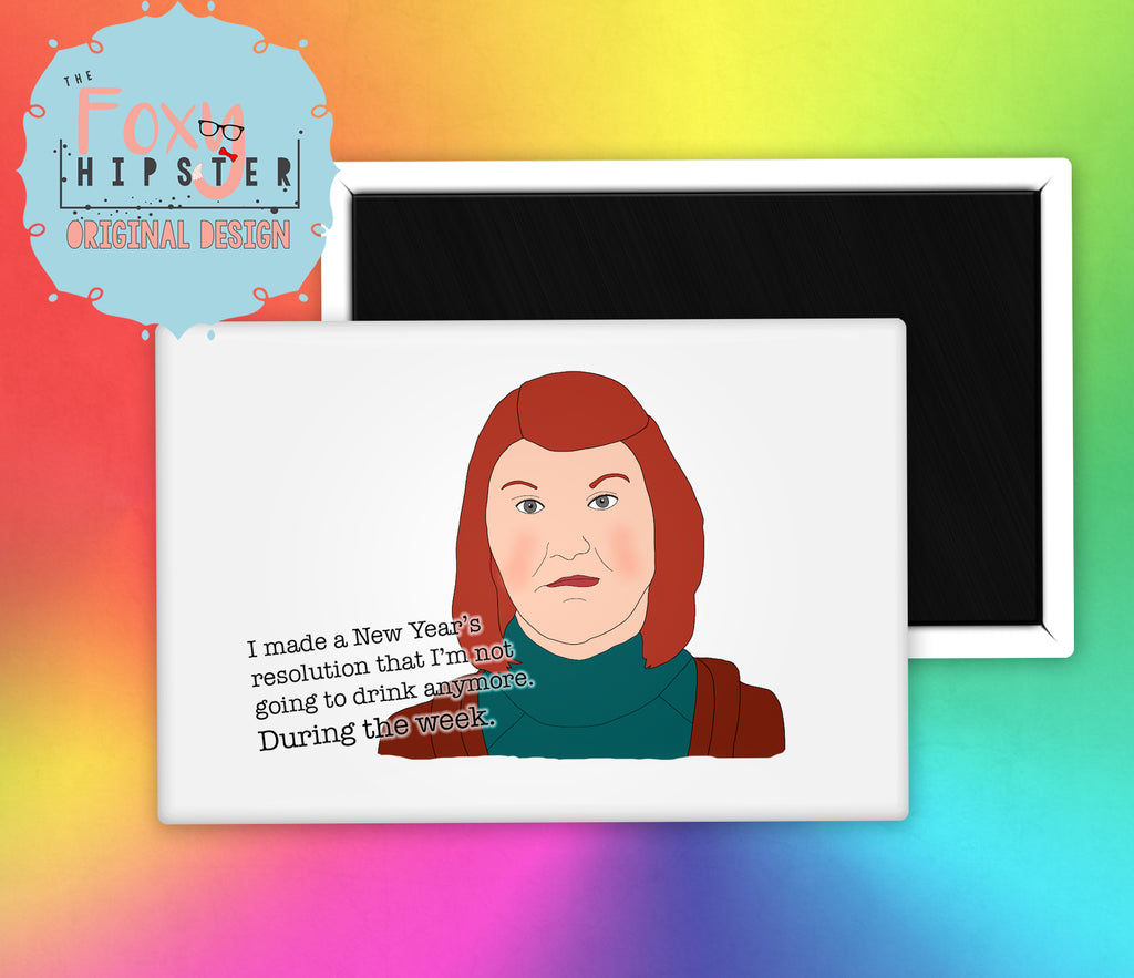 The Office Meredith Palmer Drinking Quote Fridge Magnet