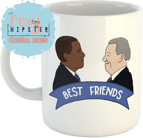 Obama and Biden Best Friends 11oz coffee mug