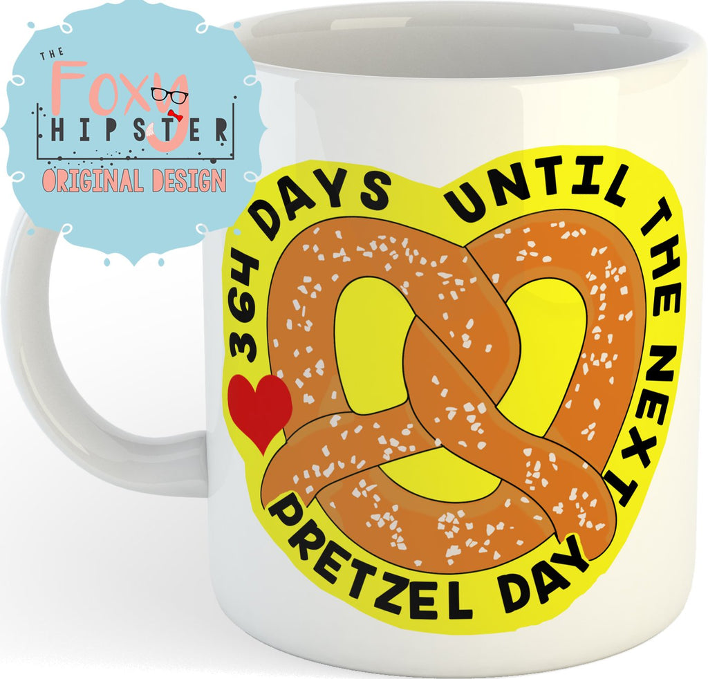 Pretzel Day Countdown 11oz coffee mug The Office Inspired