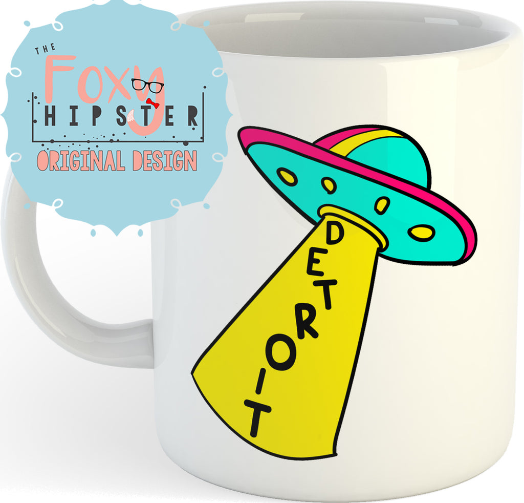 Detroit UFO 11oz coffee mug