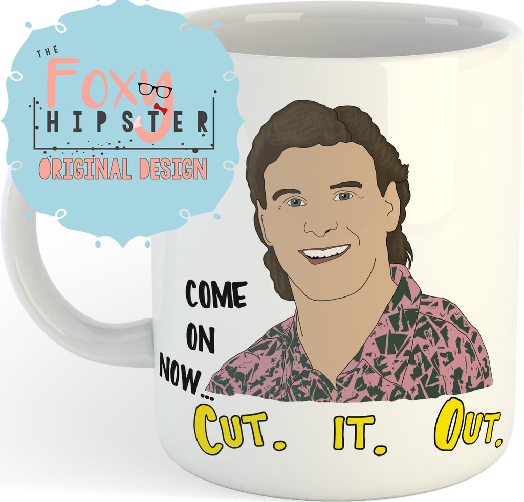Uncle Joey Cut it Out Full House 11oz coffee mug