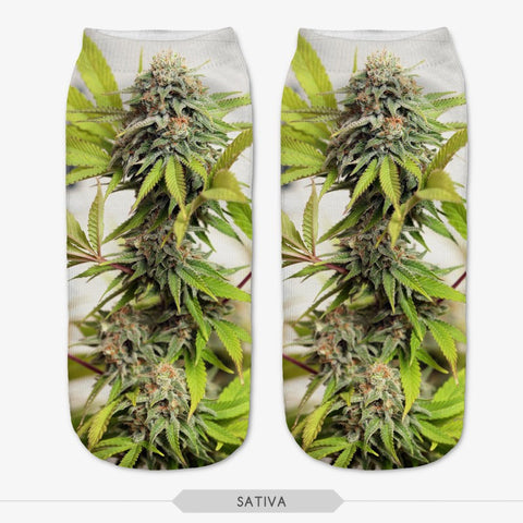 Sativa Weed Leaf Socks 3D Print