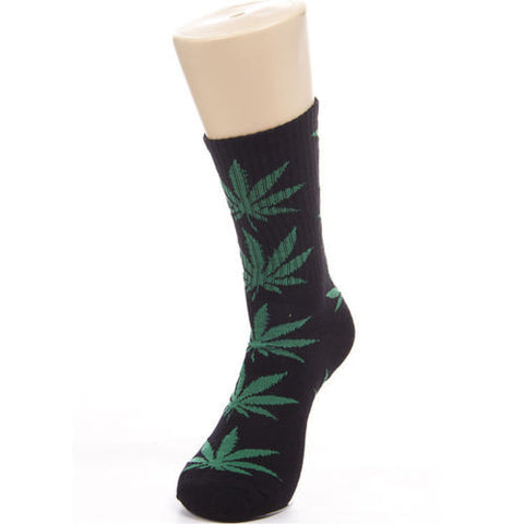 Weed Leaf Socks Black/Green