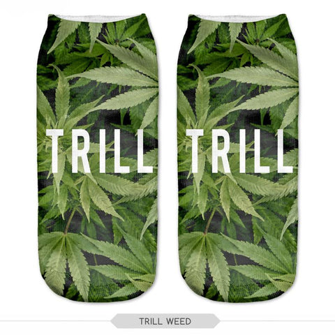 Trill Weed Socks Low Cut Ankle Sock