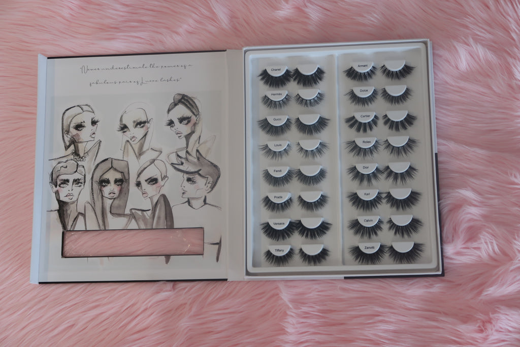 Luxury Lane Lash Book