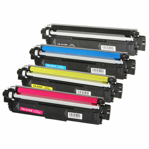 Compatible Brother TN-221 TN-225 Laser Toner Cartridge Combo BK/C/M/Y