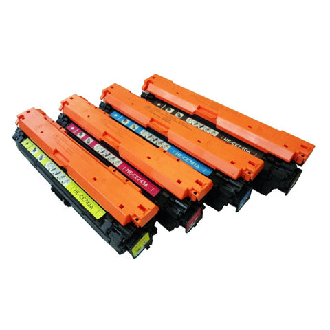 Compatible HP CE740A CE741A CE742A CE743A Set Toner Cartridge