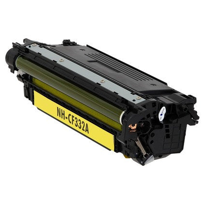 Compatible HP CF332A (HP 654A) Yellow Laser Toner Cartridge