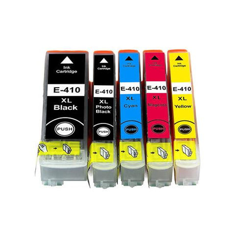 Compatible Epson T410XL 5 pcs Set Ink Cartridge High Yield