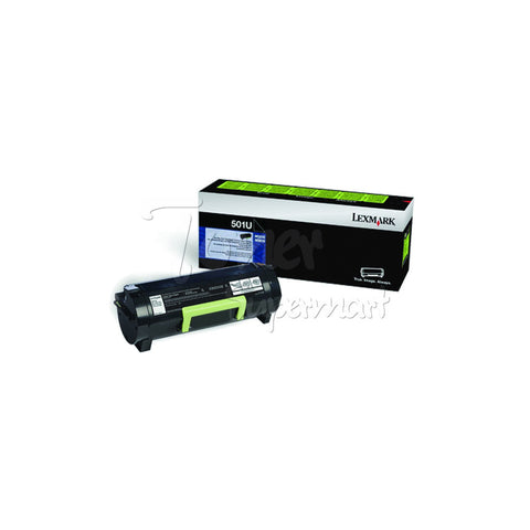 Remanufactured LEXMARK 501U Black Ultra High Yield Laser Toner Cartridge (50F1U00)