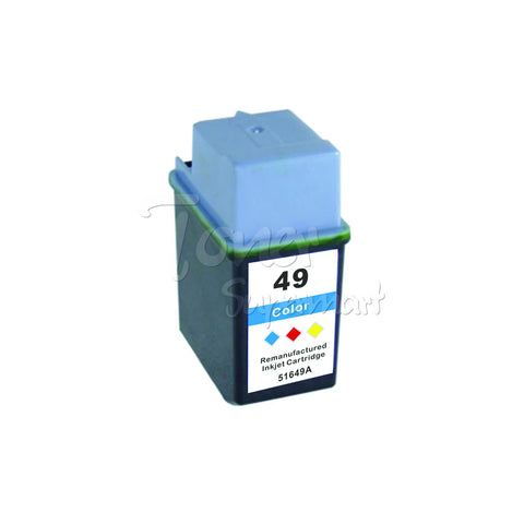 Remanufactured HP 49 Tri-Color INK / INKJET Cartridge