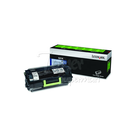 Remanufactured LEXMARK 521X Black Extra High Yield Laser Toner Cartridge (52D1X00)
