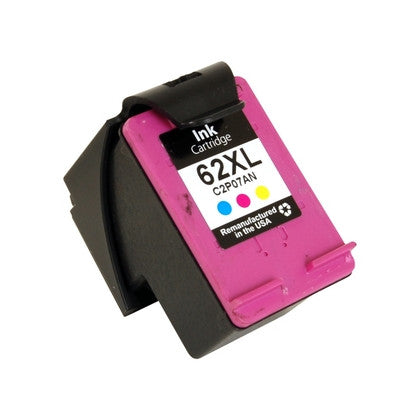 Compatible HP C2P07AN (HP 62XL) High Yield Tri-Color Ink Cartridge