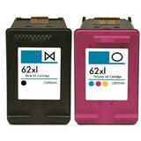 Compatible HP 62XL (62) Black / Tri Color Combo Pack Ink Cartridge