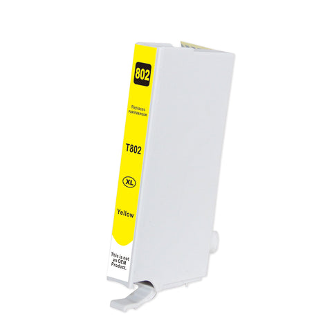 Compatible EPSON T802XL Yellow INK / INKJET Cartridge (T802XL420)