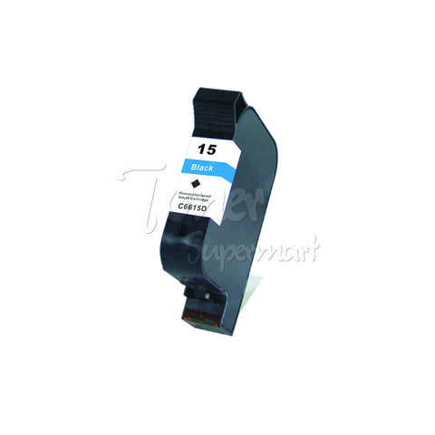 Remanufactured HP 15 Black INK / INKJET Cartridge