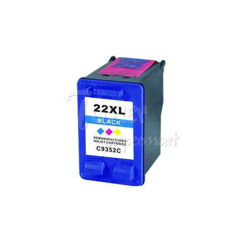 Remanufactured HP 22XL Tri-Color High Yield INK / INKJET Cartridge