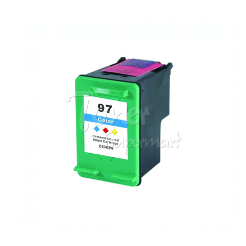 Remanufactured HP 97 Tri-Color INK / INKJET Cartridge