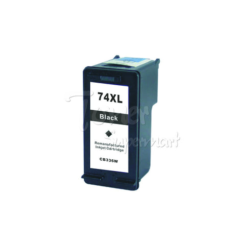 Remanufactured HP 74XL Black High Yield INK / INKJET Cartridge