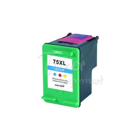 Remanufactured HP 75XL Tri-Color High Yield INK / INKJET Cartridge