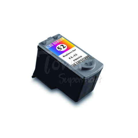 Remanufactured CANON CL-52 Tri-Color INK / INKJET Cartridge