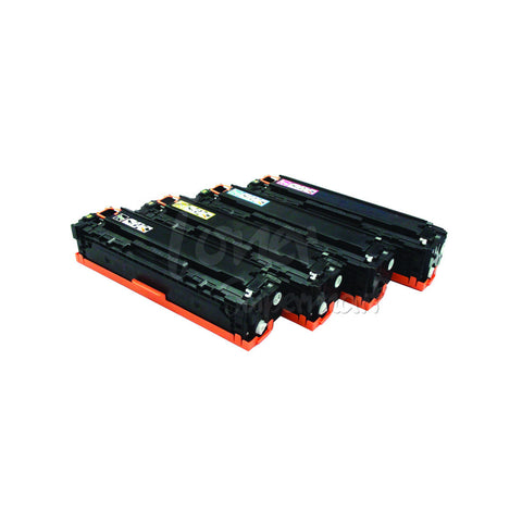 Compatible HP 128A (CE320A CE321A CE322A CE323A) 4pcs Laser Toner Cartridge Set BK/C/M/Y