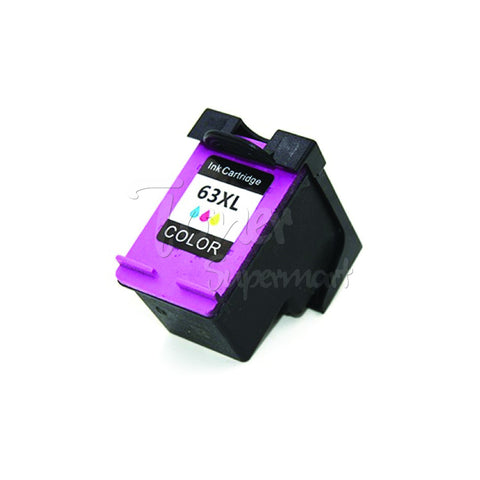 Refurbished HP 63XL (HP F6U63AN) Tri-color High Yield Ink Cartridge