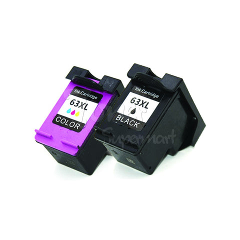 Refurbished HP 63XL (F6U63AN / F6U64AN ) Combo High Yield Ink Cartridges