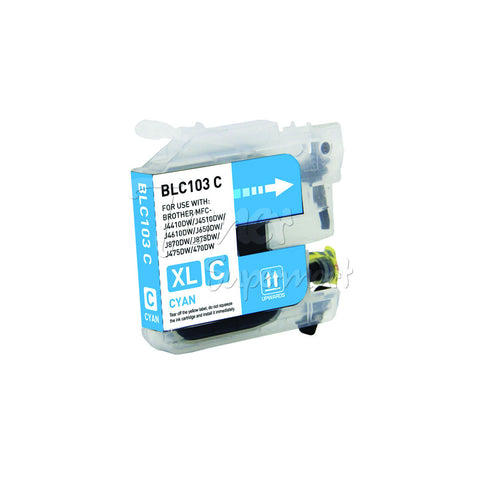 Compatible BROTHER LC103C High Yield Cyan INK / INKJET Cartridge
