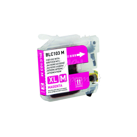 Compatible BROTHER LC103M High Yield Magenta INK / INKJET Cartridge