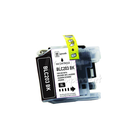 Compatible BROTHER LC203XL LC207 Black High Yield INK / INKJET Cartridge