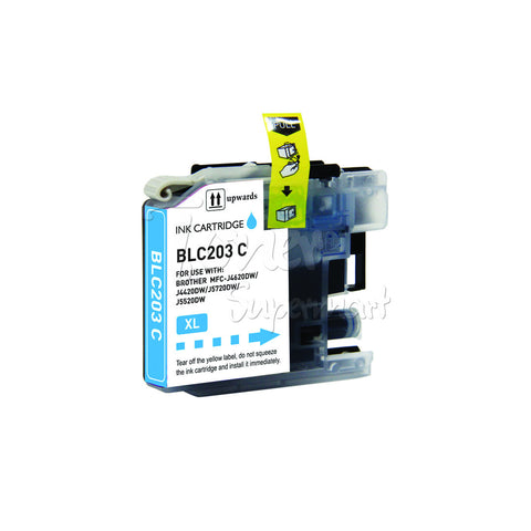 Compatible BROTHER LC203XL LC205 Cyan High Yield INK / INKJET Cartridge