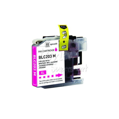 Compatible BROTHER LC203XL LC205 Magenta High Yield INK / INKJET Cartridge