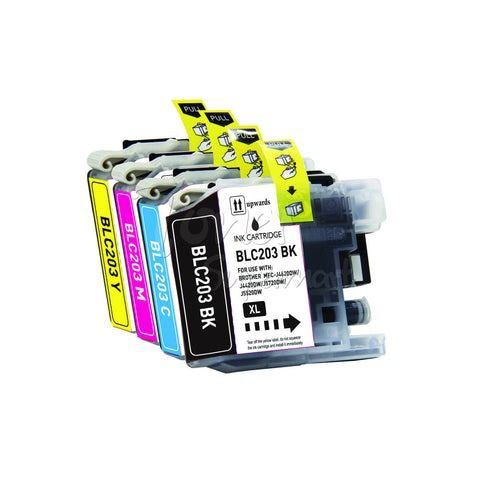 Compatible BROTHER LC203XL LC207/LC205 High Yield INK / INKJET Cartridge Set BK/C/M/Y