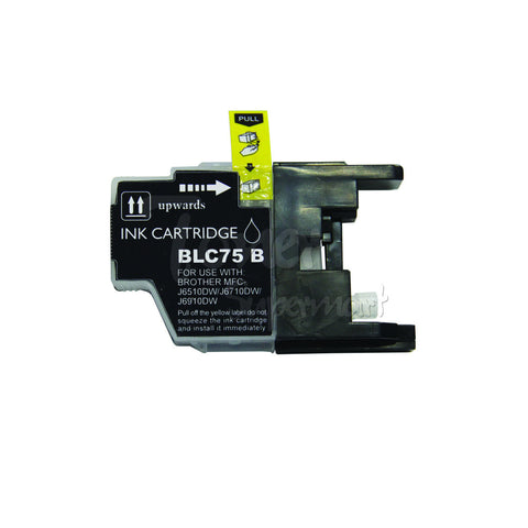 Compatible BROTHER LC75 Black High Yield INK / INKJET Cartridge