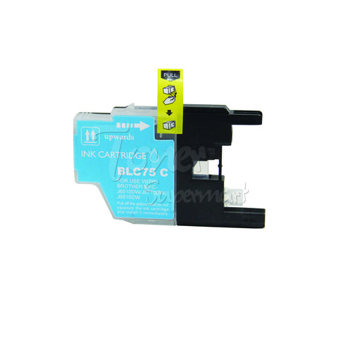 Compatible BROTHER LC75C High Yield Cyan INK / INKJET Cartridge