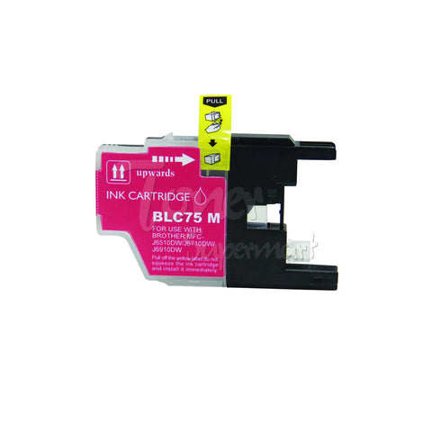 Compatible BROTHER LC75M High Yield Magenta INK / INKJET Cartridge
